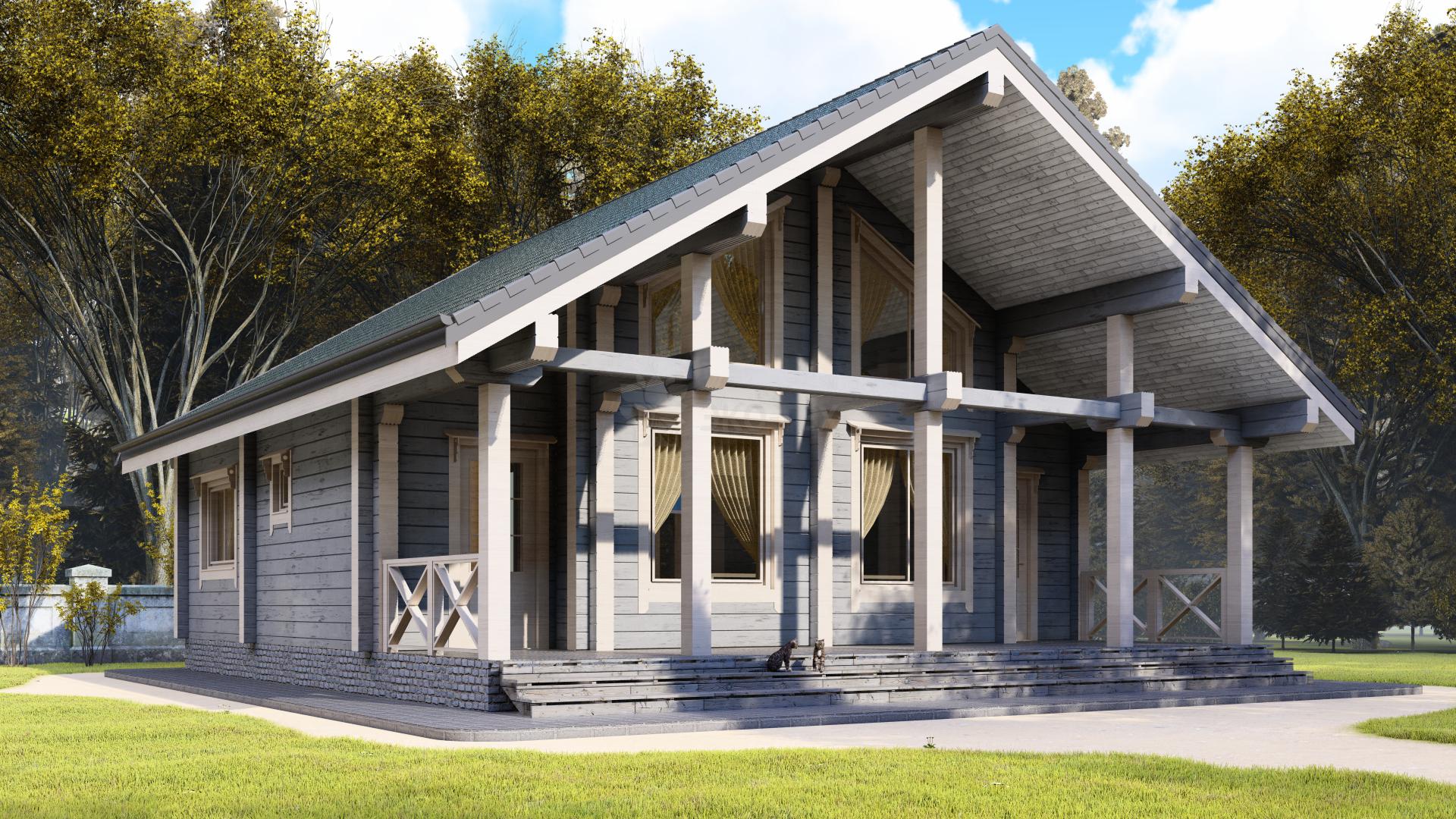 Строительство домов из клееного бруса и оцилидрованного бревна