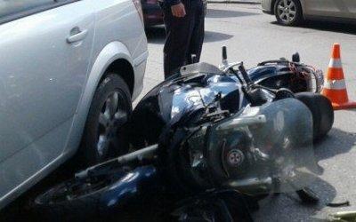 В Калининграде в ДТП пострадал мотоциклист