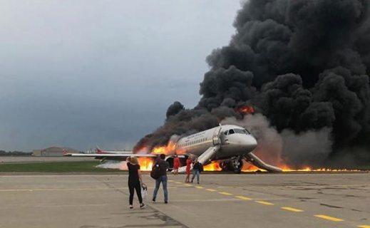 Следственный комитет опубликовал видео с места авиакатастрофы в Шереметьево