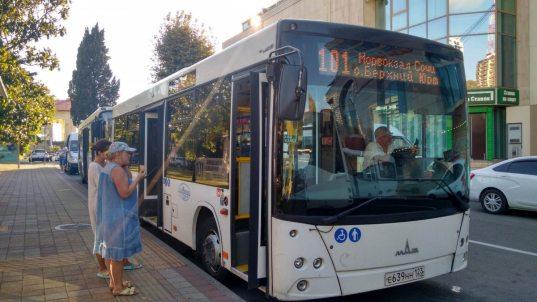 С 5 июня в автобусах Сочи запустят систему безналичной оплаты проезда